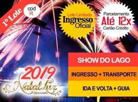 INGRESSO NATAL LUZ / SHOW DO LAGO: Entr+Transporte+Guia