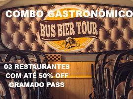 Combo Gastronômico - 3 Restaurantes e Bus Bier Tour